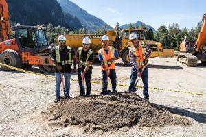 SVLP - Landon John - Superintendent for Groundbreaking of Major Construction in BC